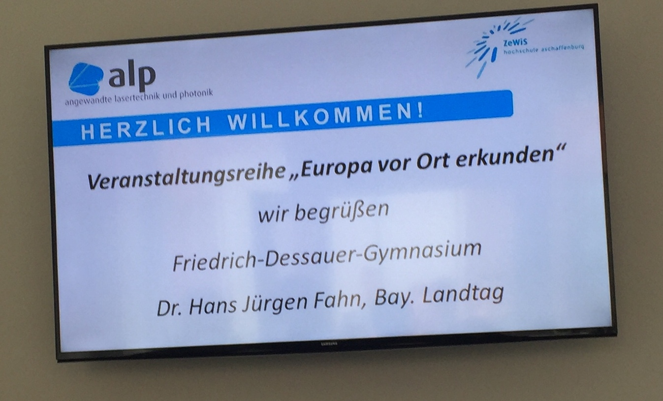 """Mein Vortrag im Rahmen der Veranstaltungsreihe """"Europa vor Ort erkunden""""  (27.06.2017 / Obernburg) - Dr. Hans Jürgen Fahn / MdL"""